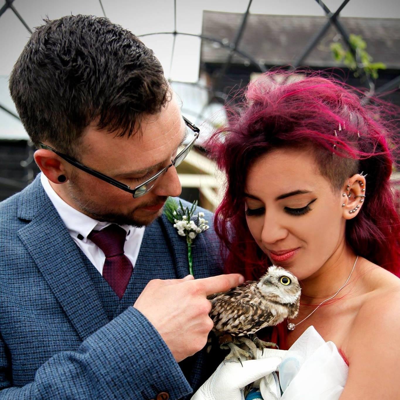 Hannah and Kieron at the wedding