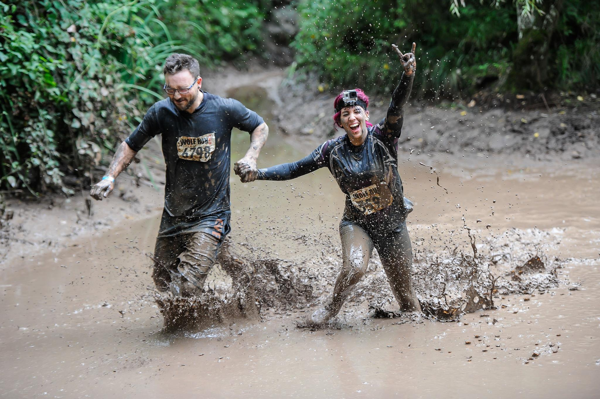 Hannah and Kieron doing Wolf Run